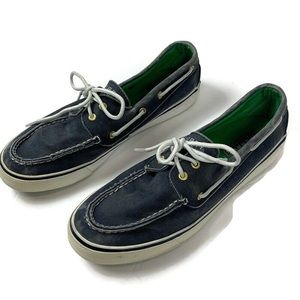 Sperry Top Sider Blue Denim Boat Shoes Loafers 9.5